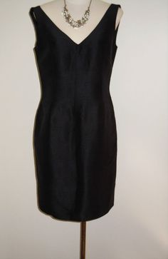 "Linda Allard for Ellen Tracy Size 6 Black Silk Dress ""Little Black Dress"" #EllenTracy #Sheath #LittleBlackDress 16.99"