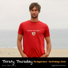 A great beer drinking t-shirt, perfect for that Thursday pint. Funny Drinking Quotes, Thirsty Thursday, Fun Drinks, Polo Ralph Lauren, Beer, Humor, Mens Tops, T Shirt, Root Beer
