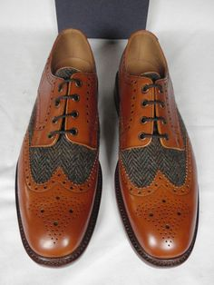 Charles Tyrwhitt Harris Tweed Brogues, SUITABLE FOR: Cold, dry days in The (relatively) North Atlantic, NOT SUITABLE FOR: Hot, wet days in The Tropics