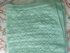 Hand knit mint green baby blanket by BabyknitTreasures on Etsy #knit #knitting #baby #blanket #mint
