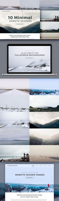 10 Minimal Website Header Photos #02 by PhotoMarket on @creativemarket