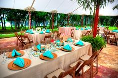 Variety of reception set-ups available on the event terrace