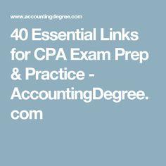 40 Essential Links for CPA Exam Prep & Practice - AccountingDegree.com