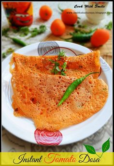TOMATO DOSA - NO FERMENTATION / INSTANT DOSA ~ Cook With Smile