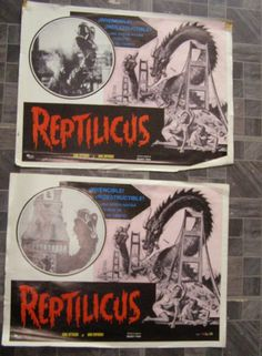 #reptilicus #monsters #horrormovies #lobbycards #collectibles #collectables