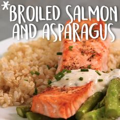 Broiled Salmon And Asparagus -Tasty - Food Videos And Recipes Salmon Recipes, Fish Recipes, Seafood Recipes, Dinner Recipes, Cooking Recipes, Healthy Recipes, Indian Recipes, Dinner Ideas, Seafood Meals
