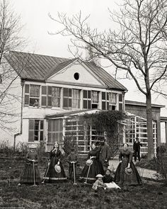 8 by 10 Reproduction Print Civil War Era Photo Southern Girls Playing Croquet | eBay