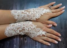 White Wedding Gloves Bridal Lace Gloves Fingerless by DoveGlove Bridal Cuff, Bridal Lace, Lace Gloves, Fingerless Gloves, Nerd Outfits, Wedding Gloves, Textiles, Pearl Headband, Textile Jewelry