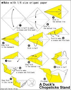 Origami Duck's Chopsticks Stand