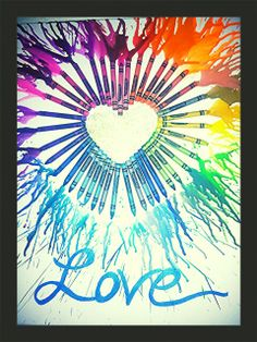Heart And Glitter In Center With Love Painted At