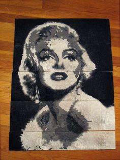 Marilyn Monroe perler beads by Melanie M. - Perler® | Gallery