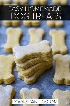 Pumpkin Dog Treats are a big hit and making this homemade version is super simple. Making homemade treats is easy AND less expensive than store-bought. Plus, you can customize them to your dogs personal tastes. Pumpkin Dog Treats, Homemade Dog Treats, Healthy Dog Treats, Doggie Treats, Dog Pumpkin, Healthy Food, Dog Biscuit Recipes, Dog Treat Recipes, Dog Food Recipes