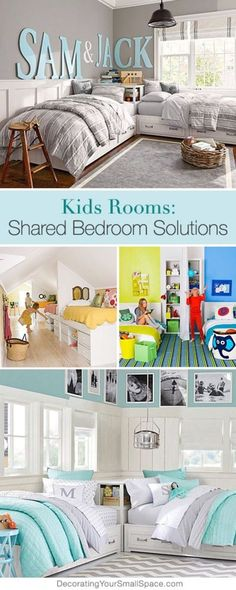 Are you trying to decorate your shared kids room and want to give them each of feeling of their own space. Get inspired by these beautiful children's bedroom ideas. They are a perfect way to have your kids feeling like they have their own spaces but still keeps the room looking beautiful and organized.