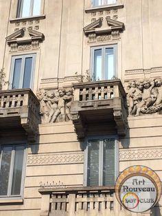art nouveau building milano