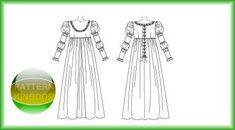 italian Renaissance dress | McCalls 5444 Italian Renaissance Dress/Gown Patterns