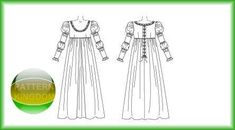 italian Renaissance dress | McCalls 5444 Italian Renaissance Dress/Gown Patterns