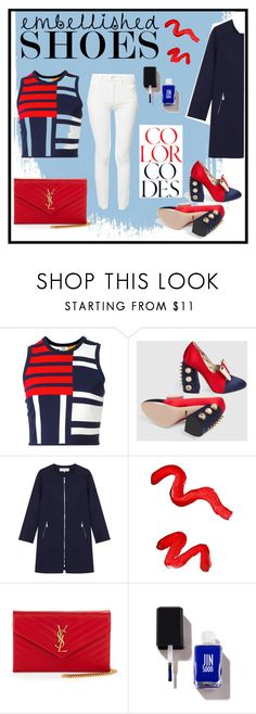 """""""Embellished shoes"""" by ladysuzie ❤ liked on Polyvore featuring Tommy Hilfiger, Gucci, Gérard Darel, Topshop, Yves Saint Laurent and Mother"""