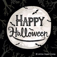 Happy Halloween everyone! 🎃👻 #halloween2016 #halloween #halloweenillustration #lettering #moon #bats #handdrawn #handdrawnfont #type #typography #handdrawnlettering #handdrawntype #illustration #art #paint #ink #draw #painting #watercolor #watercolour #gouache #gouachepainting #winsorandnewton