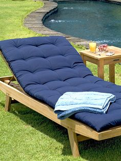 teak outdoor patio lounger chair | wing point lounger