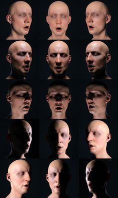 Lighting reference for face - Tony Reynolds -- creepy, but good reference.