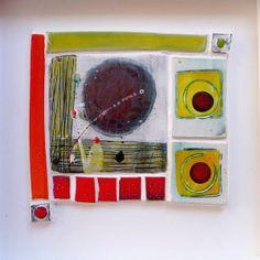 'Ooh, that red!' 25.5cms(h)x25.5cms(w)x3.5(d) Linda Styles 2010