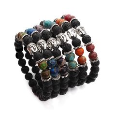 Find More Strand Bracelets Information about 2016 New Handmade Natural Round 8mm Lava and Imperial Jasper Bead Buddha Bracelet Pulseiras Masculinas for Women and Men F3049,High Quality bracelet korea,China bracelet shop Suppliers, Cheap bracelet energie from Yiwu Xinyao Jewelry Factory on Aliexpress.com