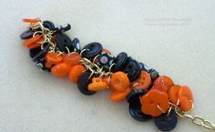Easy to Make Bead and Button Bracelet for Halloween