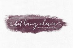 Bethany Olivia Premade Logo Template. Wedding Fonts. $20.00
