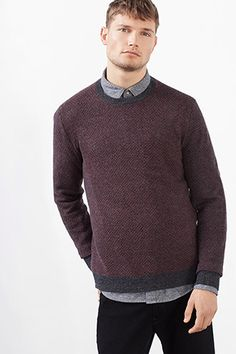 The Esprit Online-Shop offers a large selection of high quality fashions for men, women and children as well as the latest fashion accessories and furnishings. Latest Fashion, Mens Fashion, Knitwear, Fashion Accessories, Men Sweater, Wool, Sweaters, Cotton, How To Wear