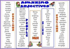 Learn English online with well written articles about grammar, vocabulary and many more. Adjectives To Describe People, List Of Adjectives, English Adjectives, English Vocabulary, English Grammar, Adjective List, Awesome Adjectives, Common Adjectives, Adjectives Activities