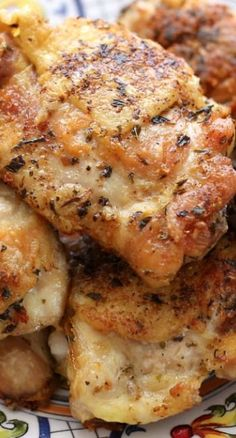 Pan Fried Italian Chicken Thighs