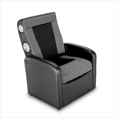 Ace Bayou X Rocker Storage Flip Gaming Chair in Black and Grey - 0711701