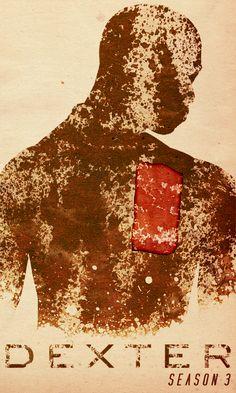 Dexter Season 3 - Minimal TV Poster by Travis English #minimaltvposters #alternativetvposters #travisenglish #dexter