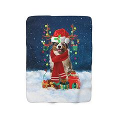 Australian Shepherd in Snow with Lights Christmas Holiday Throw Blanket, Dog Lovers, Holiday Fleece Blanket (50x60 In... #Australian Shepherd in Snow with Lights Christmas Holiday Throw Blanket, #Dog Lovers gift #Christmas Gift #Christmas Blanket Christmas Puzzle, Dog Christmas Gifts, Christmas Photos, Christmas Holidays, Lovers Gift, Dog Lover Gifts, Dog Gifts, Dog Lovers, Rough Collie