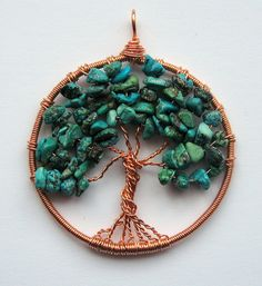 Turquoise Tree Of Life (Sold) by Louise Goodchild, via Flickr