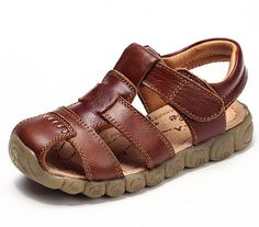 Cheap sandals designer, Buy Quality sandals baby directly from China baby leather sandals Suppliers: 2017 New 4 Designs Boys Soft Leather Sandals Baby Boys Summer Prewalker Soft Sole Genuine Leather Beach Sandals Size Toddler Girl Dress Shoes, Girls Dress Shoes, Baby Boy Shoes, Boys Shoes, Kids Boy, Baby Boys, Toddler Boys, Closed Toe Sandals, Flat Sandals