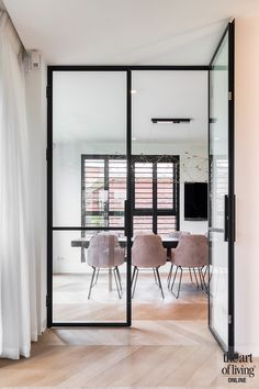 Steel doors in modern villa Living Room White, New Living Room, Home And Living, Living Room Decor, Happy New Home, Home Trends, Home Fashion, Home Interior Design, Interior Inspiration