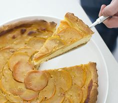 lemonpi » Persimmon, cinnamon and yogurt brioche tart