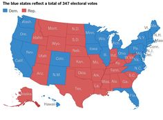 If Upshot predictions for each state prove correct, 2016's Electoral College map…
