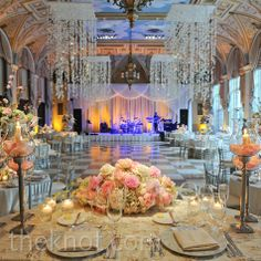 Real Weddings - A Pink Wonderland Wedding in Palm Beach, FL - The Breakers Wedding