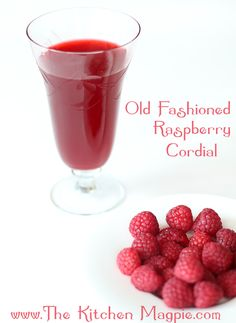 Anne of Green Gables Raspberry Cordial ~ Ingredients:        one four litre pail of freshly picked, cleaned raspberries ;      4 cups boiling water ;      ½ cup of freshly squeezed lemon juice ;      2 cups granulated sugar ;      ½ cup of honey