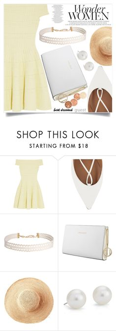 """Barn weddings"" by aislinnhamilton1993 ❤ liked on Polyvore featuring Alexander McQueen, Aquazzura, Humble Chic, Trussardi, Toast, Blue Nile, bestdressedguest and barnwedding"