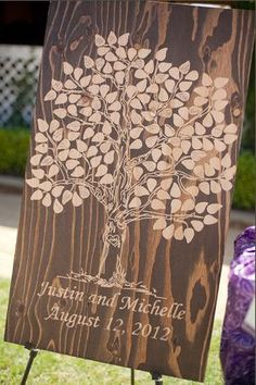 Wooden Guest Book tree  150 signatures by WoodYouSignIt on Etsy, $115.00