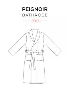 Jalie 2567 - Bathrobe Pattern for Children, Adults and Plus Sizes - 27 sizes in the same pattern!