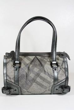 Burberry Handbags Trench Check (Metallic Gray) Canvas and Leather 3712562 Burberry, http://www.amazon.com/dp/B005AN6U7E/ref=cm_sw_r_pi_dp_XzFEqb10N0Y3E