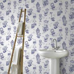 Downstairs loo wallpaper!
