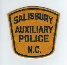 VINTAGE SALISBURY, NC AUXILIARY POLICE patch