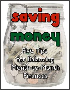 Saving Money – Five Tips for Balancing Month-to-Month Finances — Color Me Crystal