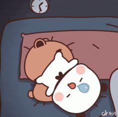 Cute Bunny Cartoon, Cute Kawaii Animals, Cute Couple Cartoon, Cute Love Cartoons, Cute Bear Drawings, Cute Animal Drawings Kawaii, Cute Cartoon Drawings, Funny Cartoon Gifs, Cute Cartoon Pictures