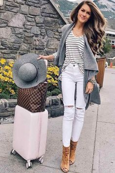 Comfy travel outfit, winter travel outfit, summer dress outfits, airplane t Vest Outfits, Summer Dress Outfits, Winter Outfits, Cute Outfits, Comfy Travel Outfit, Winter Travel Outfit, Travel Outfits, Zoo Outfit, Airplane Outfits